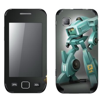 Виниловая наклейка «Шагающий робот с эквалайзером» на телефон Samsung Wave 525