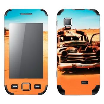 Виниловая наклейка «Соржавевшая машина в пустыне» на телефон Samsung Wave 525